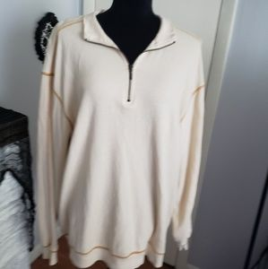 Orvis mens cream long sleeve top. Size Large